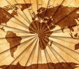 Mapa mundial vintage
